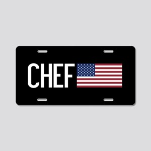 Careers: Chef (U.S. Flag) Aluminum License Plate